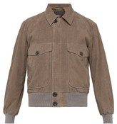 Thom Sweeney - Perforated Suede Bomber Jacket - Mens - Grey