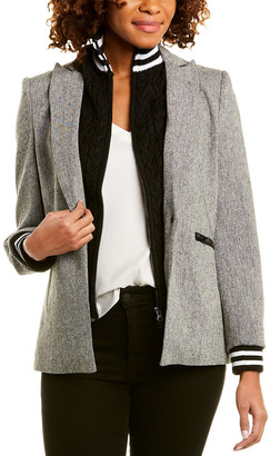 Central Park West Cable-Knit Bib Jacket