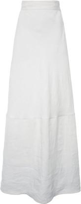 Miu Miu High-Rise Linen Maxi Skirt