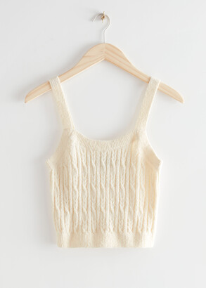 And other stories Cable Knit Tank Top