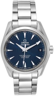 Omega Blue Stainless Steel Seamaster Aqua Terra 231.10.39.21.03.002 Men's Wristwatch 38.5 MM