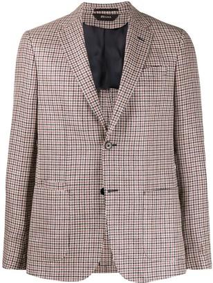 Ermenegildo Zegna Check Print Tailored Blazer