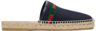 Gucci Navy Interlocking G Slip-On Espadrilles