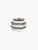 Denis Music Silver Moebius Ring Set