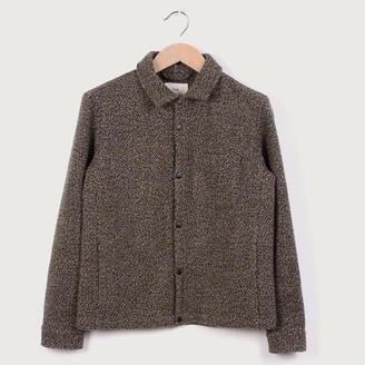 Folk Orb Wool Jacket Stone Moss - 2