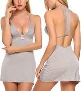 Avidlove Sleepwear Womens Chemise Sexy Nightie Full Slip Lace Babydoll Dress (L, )