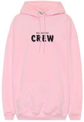 Balenciaga Crew oversized cotton-fleece hoodie