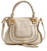 Chloé 'Medium Marcie' Leather Satchel - White