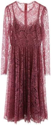 Dolce & Gabbana Pleated Lace Midi Dress