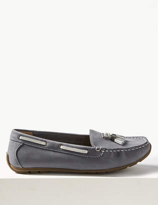 M&S CollectionMarks and Spencer Wide Fit Leather Tassel Boat Shoes