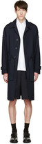 Marni Navy Multiple Straps Trench Coat