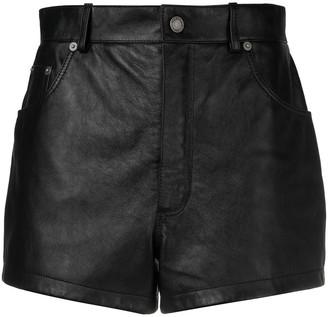 Saint Laurent Short Leather Shorts