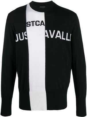Just Cavalli Intarsia Knit Crew Neck Jumper