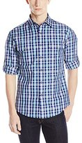 Vince Camuto Men's Double Pocket Roll Sleeve Sportshirt