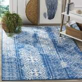 Safavieh Adirondack Collection ADR111F Silver and Blue Indoor/Outdoor Area Rug, 4 Feet by 6 Feet