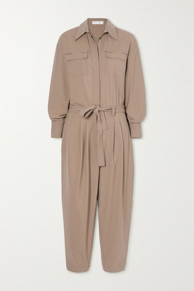 Brunello Cucinelli Bead-embellished Stretch-wool Jumpsuit - Light brown