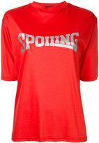 G.V.G.V. Spoiling glitter print T-shirt - women - Lyocell/Cotton - XS