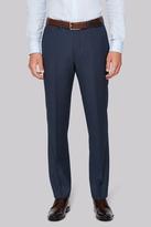 Hardy Amies Tailored Fit Indigo Semi Plain Pants