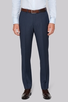 Hardy Amies Tailored Fit Indigo Semi Plain Trousers