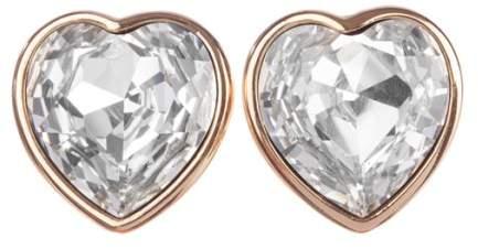 Christian Dior Runway Headlight Cubic Zirconia Heart Earrings