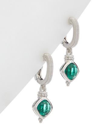 Judith Ripka Classic Silver 3.00 Ct. Tw. Green Quartz Earrings