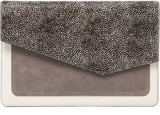 Botkier Cobble Hill Calfskin Leather Flap Clutch