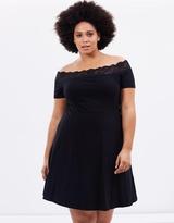 Lace Trim Bardot Dress