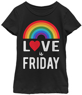 Fifth Sun Black 'Love Is Friday' Rainbow Tee - Toddler & Girls