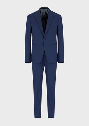 Emporio Armani Single-Breasted, Slim-Fit Stretch Virgin Wool Suit
