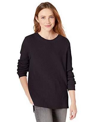 Goodthreads Cotton Half-Cardigan Stitch Crewneck Sweater Pullover,S
