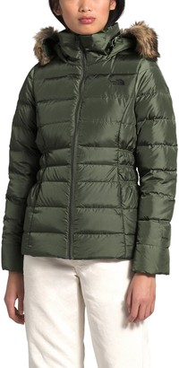 The North Face Gotham II Hooded Water Resistant Faux Fur Trim 550-Fill-Power Down Jacket