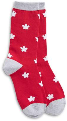 Canadian Olympic Team Collection Leaf Print Crew Socks