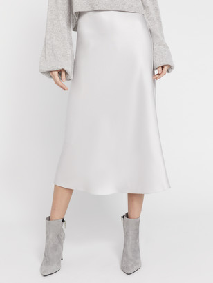 Alice + Olivia Maeve Midlength Slip Skirt