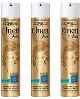 L'Oreal Elnett Satin Extra Strong Hold Hairspray - Unscented,11 Oz, 3 Count
