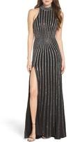 La Femme Women's Embellished Jersey Gown