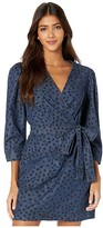 Rebecca Taylor Long Sleeve Faune Denim Dress (Medium Indigo Wash) Women's Dress