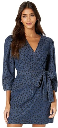 Rebecca Taylor Long Sleeve Faune Denim Dress (Medium Indigo Wash) Women's Dress