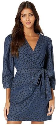 La Vie Rebecca Taylor Long Sleeve Faune Denim Dress (Medium Indigo Wash) Women's Dress