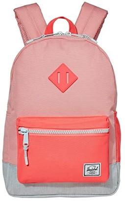 Herschel Supply Co. Kids Heritage Youth Backpack (Little Kids/Big Kids) (Peony/Neon Pink/Ballad Blue Pastel Crosshatch) Backpack Bags