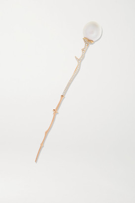 OLE LYNGGAARD COPENHAGEN 18-karat Gold, Diamond And Pearl Hair Pin