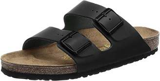 Birkenstock Arizona, Unisex-Adults' Casual Sandals, Black (Nubuck Leather), 7 UK (40 EU)