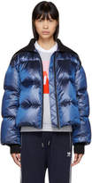 Kenzo Blue Limited Edition Holiday Down Cropped Jacket