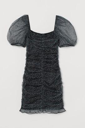 H&M Draped tulle dress