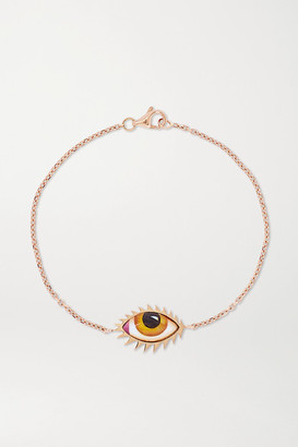 Lito Tu Es Partout 14-karat Rose Gold And Enamel Bracelet - one size