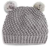 Surell Girls' Double Pom Hat