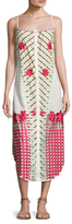 Red Carter Thea Embroidered Dress