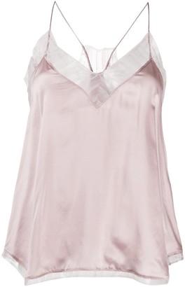 IRO Berwyn lace-trimmed silk top