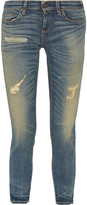 Simon Miller Toyah distressed mid-rise slim-fit jeans
