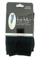 Nicole Miller Fleece Lined Plush Footless Tights Extra Warm - /1x2x