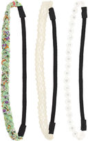 Capelli Of N.Y. Capelli of New York 3-pk. Mixed Media Headwraps